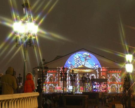 На Масленицу, в столице, покажут световое шоу