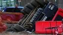 На Красной площади грузовик съехал в котлован, убив рабочего