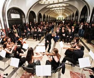 Ночной концерт в честь Московского Метро