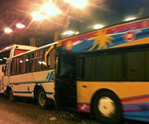 В аварии с участием сразу 4-х автобусов пострадали курсанты