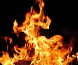 В Москве женщина заживо сгорела возле школы