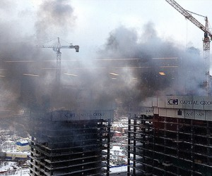 В столице снова горит «Москва-Сити»
