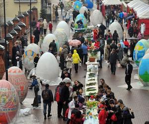 На пасху на Кузнецком мосту появятся 2-метровые пасхальные яйца