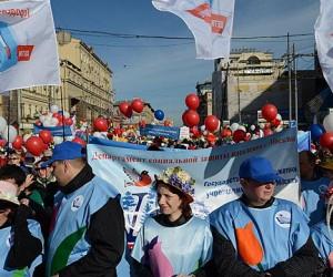 Центр Москвы сегодня утром стал местом скопления более 80 тыс. демонстрантов