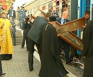 В столицу прибыла православная святыня – Крест Андрея Первозванного