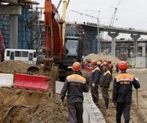 Ha Можайском шоссе началось строительство эстакады