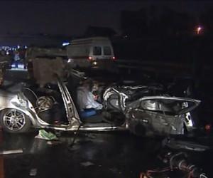 В ДТП под Москвой погиб прокурор. Столкнулись 7 машин