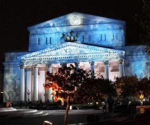 На фасаде Большого театра будут показывать световые спектакли