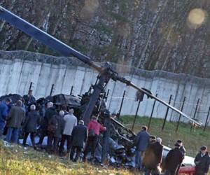 На юго-востоке Москвы упал вертолет Ка-52