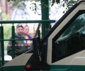 При ограблении в столице, инкассатор получил огнестрел в голову