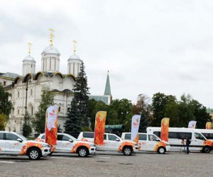 Кортеж эстафеты Олимпийского огня представили в Москве