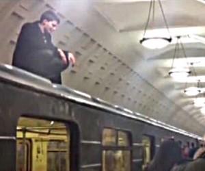 С крыши вагона метро  уроженца Владикавказа сняла полиция