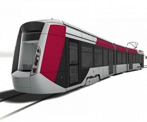 В столице представили инновационный трамвай