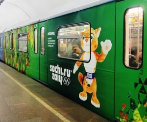 В столичной подземке запустили Олимпийский поезд