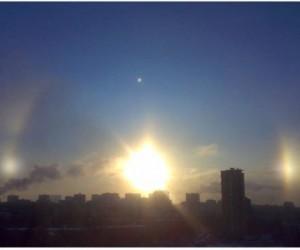 Ha Крещение москвичи могли увидеть сразу три Солнца