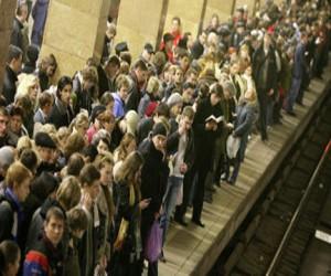 Поломка поезда на синей ветке метро