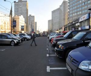 Центр Москвы немного разгружен от машин