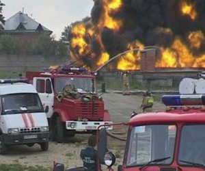 В Москве горела промзона
