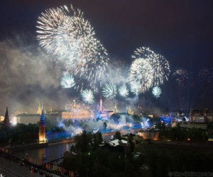 Праздничный салют в Москве