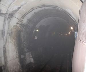 Задымление поезда на фиолетовой ветке метро