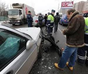 Московская иномарка протаранила несколько авто