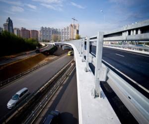 Новая эстакада на Можайском шоссе