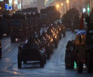 Репетиция Парада Победы на улицах Москвы