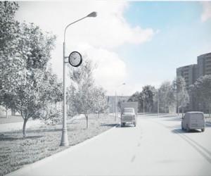 Новый дизайн для московских  уличных часов