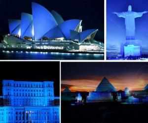 Сегодня фасады зданий подсветят синим