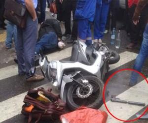 Киллер-скутерист пытался застрелить бизнесмена в центре Москвы