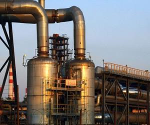 Вспышка газа на нефтеперерабатывающем заводе в Капотне
