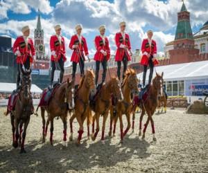 Выступления Кремлевской школы верховой езды на ВДНХ