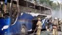 В центре Москвы горел экскурсионный автобус