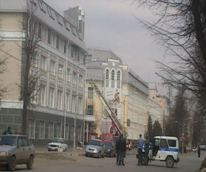 Задымление в здании МВД России