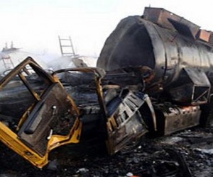 Три грузовика столкнулись под Москвой