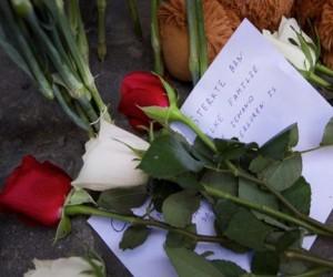 Цветы у посольства Нидерландов в Москве